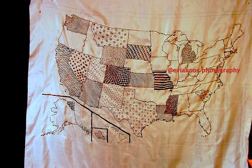 Peta US dalam batik