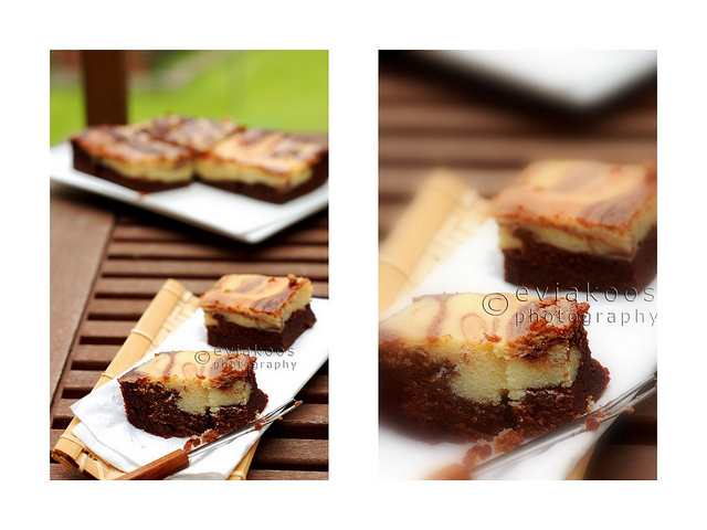 Brownies marble cheese