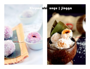 food klepon ubi jingga&ungulabel