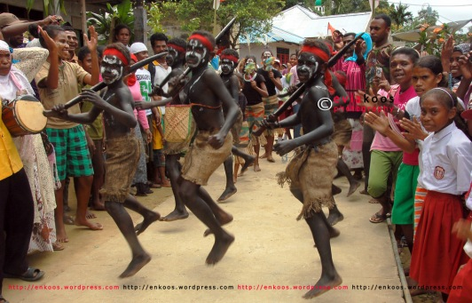 Noinoi - a dane performance in Tarak village, Karas district, West Papua, Indonesia