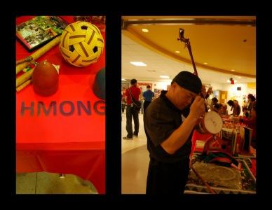 Lapak etnis Hmong yang bersebelahan dengan lapak Malaysia