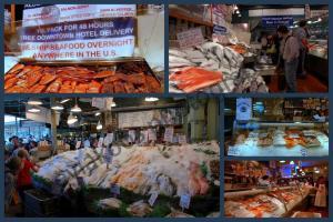 Lapak lapak penjualan ikan segar di Pike Market