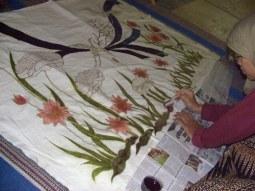 lukisan dalam batik