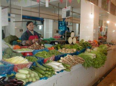Pedagang sayur.