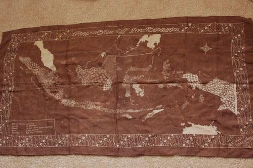 peta indonesia dalam batik